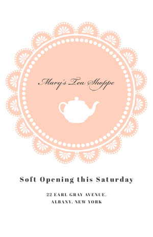 Mary's Tea Shoppe Pink Flyers