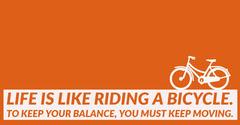 Orange and White Saying Social Post Bike