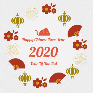 Illustrated Year of the Rat 2020 Chinese New Year Instagram Post  Chinese New Year