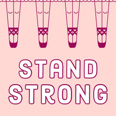 Pink Legs Stand Strong Girl Power Instagram Square  Girls