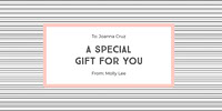 a special <BR>gift for you Gift Certificate