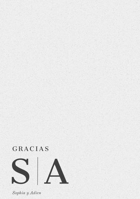 minimal design inspired wedding thank you cards Tarjeta de agradecimiento