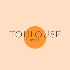 Beige and Orange Minimalist Toulouse France Instagram Square Graphic France
