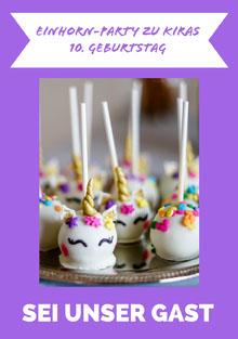 cake pop unicorn birthday cards  Geburtstagskarte