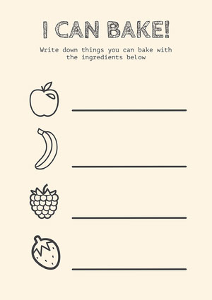 Black and White Fruit Naming Worksheet Worksheet