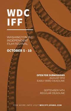 Brown and White Film Festival Poster Film Festival Poster