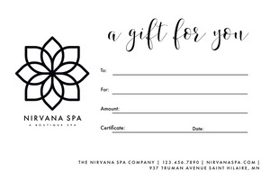 Simple Massage Gift Certificate Massage Gift Certificate
