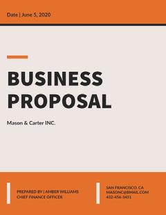 Orange and Pink Business Proposal Orange