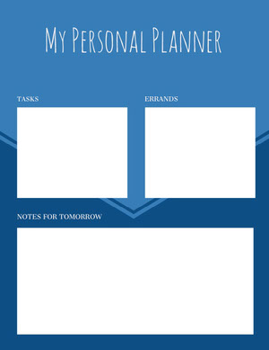 Blue and White Personal Planner  Planner