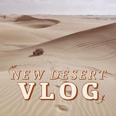 Brown Travel Vlog Instagram Square with Desert Desert