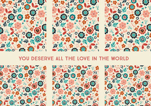 you deserve all the love in the world  Cartolina di viaggio