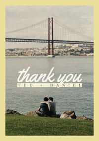 scenic lgbt wedding thank you card mariage