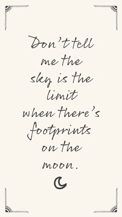 Don't Tell Me The Sky Is The Limit Phone Wallpaper Background