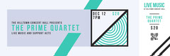 Teal and Gray Stripe Music Concert Ticket Teal