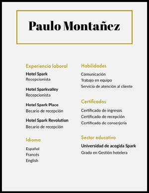 Paulo Montañez Currículum vitae