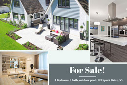 Real Estate Agency House Sale Ad Montage photo
