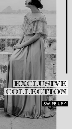 Black and White, Exclusive Collection Ad, Instagram Story New Collection