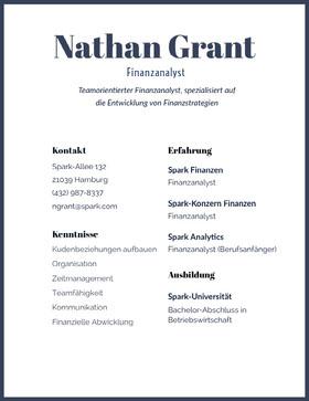 Nathan Grant Professioneller Lebenslauf
