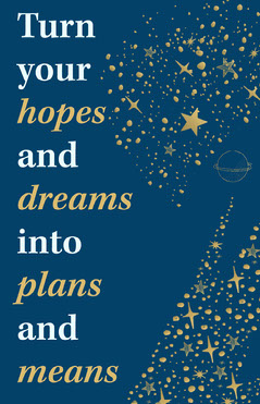 Navy Blue Stars Dreams Poster Positive Thought