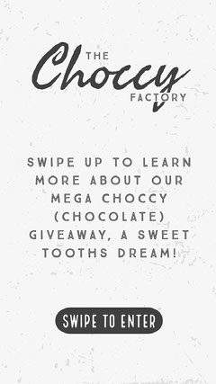 Black and White Chocolate Shop Giveaway Instagram Story Ad Giveaway