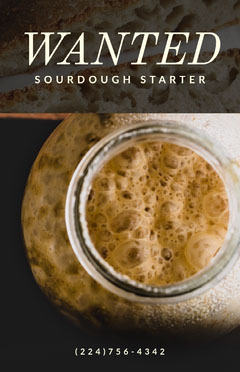 Food Sourdough Starter Wanted Flyer Cooking