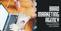 Desk Laptop Brad Marketing Linkedin Post Marketing