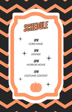 Halloween Horror Party Schedule Halloween Party Schedule