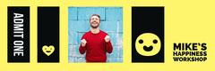 Yellow and Black Workshop Ticket Workshop