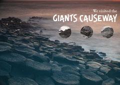 Giants Causeway Ireland Postcard Water