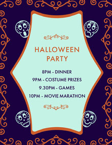 Purple Sugar Skulls Halloween Party Schedule 行程表