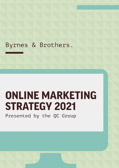 Green Triangles Pattern Marketing Strategy A4 Marketing