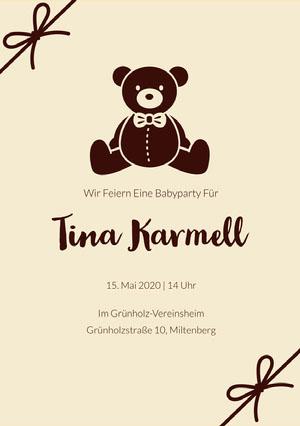 teddy bear baby shower invitations  Einladung zur Babyparty