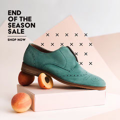teal and peach end of the season sale instagram  Shoes