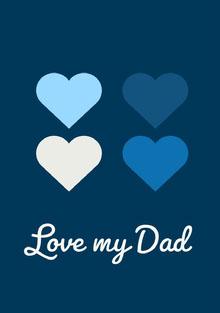 Blue and White Father's Day Card Biglietti elettronici per la festa del papà