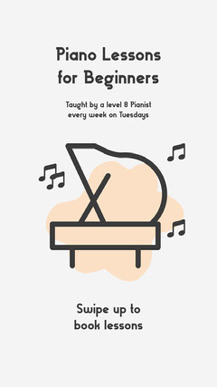 Illustrated Piano Lessons Instagram Story Ad Music Lessons Flyer
