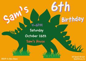 Green and Yellow Birthday Invitation Bachelorette Party Invitation