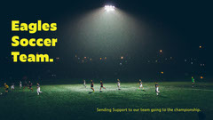 yellow field eagles soccer team facebook cover Soccer