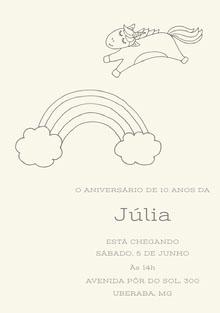 rainbow unicorn birthday cards  Cartão de aniversário