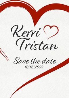 Heart Kerri Save the date Heart