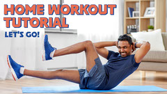 Blue & Orange Home Workout Tutorial Youtube Thumbnail Exercises