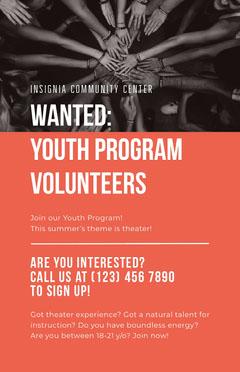 Youth Volunteers Poster Volunteer