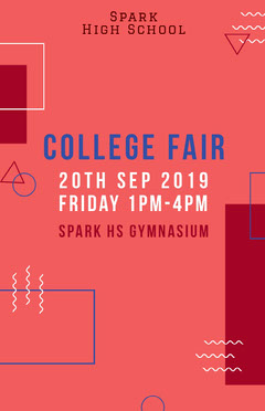 Pink and White College Fair Social Post College