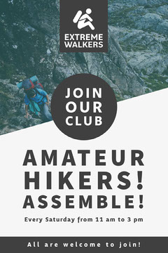 Amateur Hikers! assemble! Hike