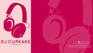 Pink DJ Business Card Business Card