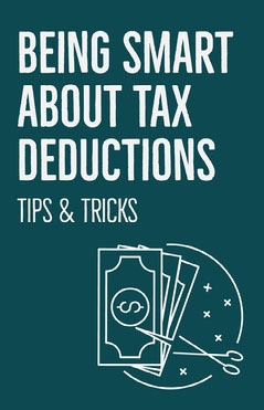Blue Tax Reductions Tips & Tricks Poster Finance