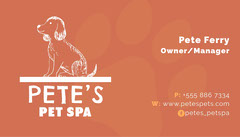 Orange Dog Drawing Business Card Spa
