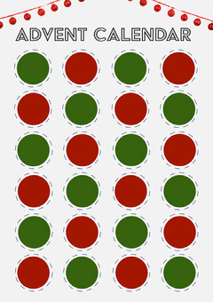 Red & Green Fill - In Advent Calendar  Countdown