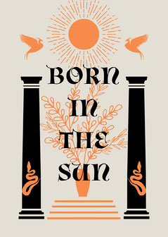 Black and Orange, Ornate, Born in The Sun, Card Sun