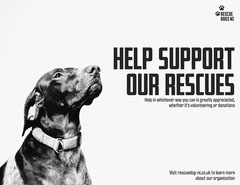 Rescue Dogs Landscape Letter  Donations Flyer