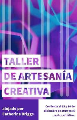 creative craft workshop poster Octavilla